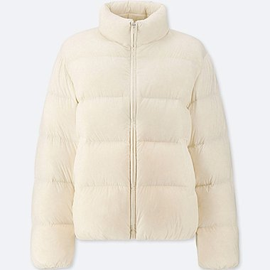 WOMEN ULTRA LIGHT DOWN VOLUME JACKET, OFF WHITE, medium