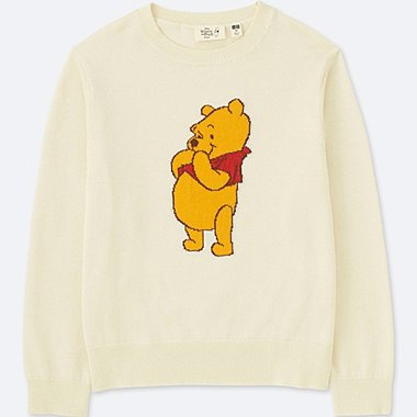 KIDS DISNEY COLLECTION WINNIE THE POOH SWEATER, OFF WHITE, medium