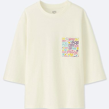 WOMEN LOVE & MICKEY MOUSE COLLECTION GRAPHIC T-SHIRT, OFF WHITE, medium