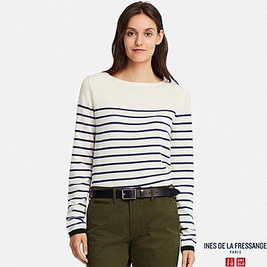 WOMEN INES CASHMERE STRIPED SWEATER