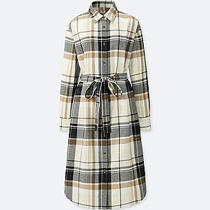 WOMEN FLANNEL LONG-SLEEVE SHIRT DRESS/us/en/women-flannel-long-sleeve-shirt-dress-412645.html