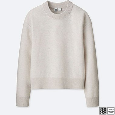 WOMEN U PREMIUM LAMBSWOOL MOCK NECK SWEATER, OFF WHITE, medium