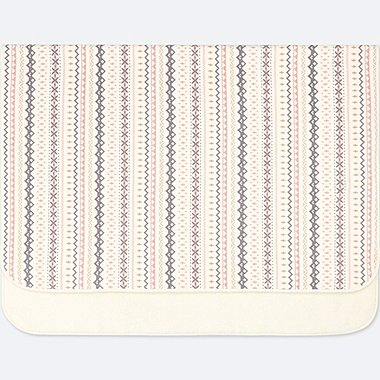 FLEECE FAIR ISLE LARGE BLANKET, OFF WHITE, medium