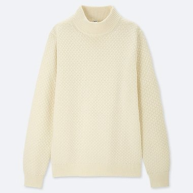 MEN MIDDLE GAUGE KNIT MOCK NECK JUMPER