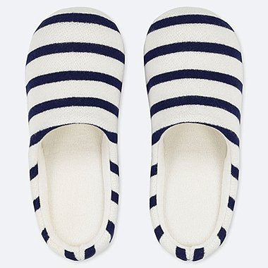 PATTERNED SLIPPERS, OFF WHITE, medium