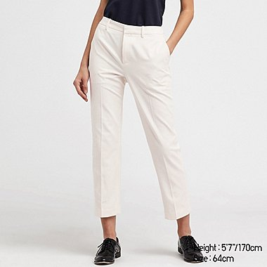WOMEN EASY CARE STRETCH CROPPED TROUSERS