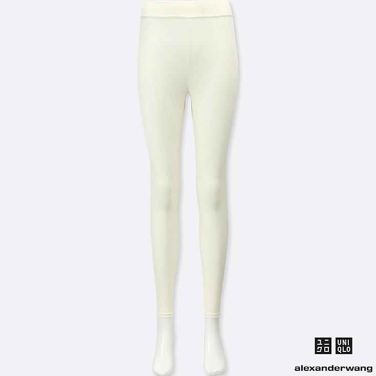 WOMEN HEATTECH RIBBED LEGGINGS (ALEXANDER WANG), OFF WHITE, large