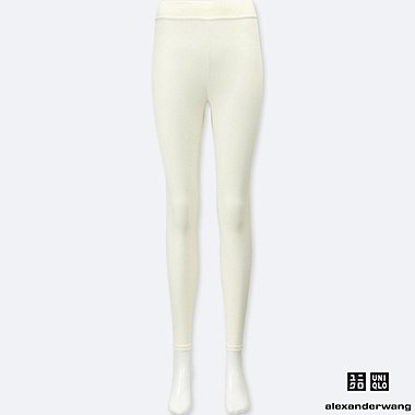 WOMEN ALEXANDER WANG HEATTECH RIBBED LEGGINGS