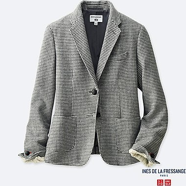WOMEN SOFT TWEED JACKET (INES DE LA FRESSANGE), OFF WHITE, medium
