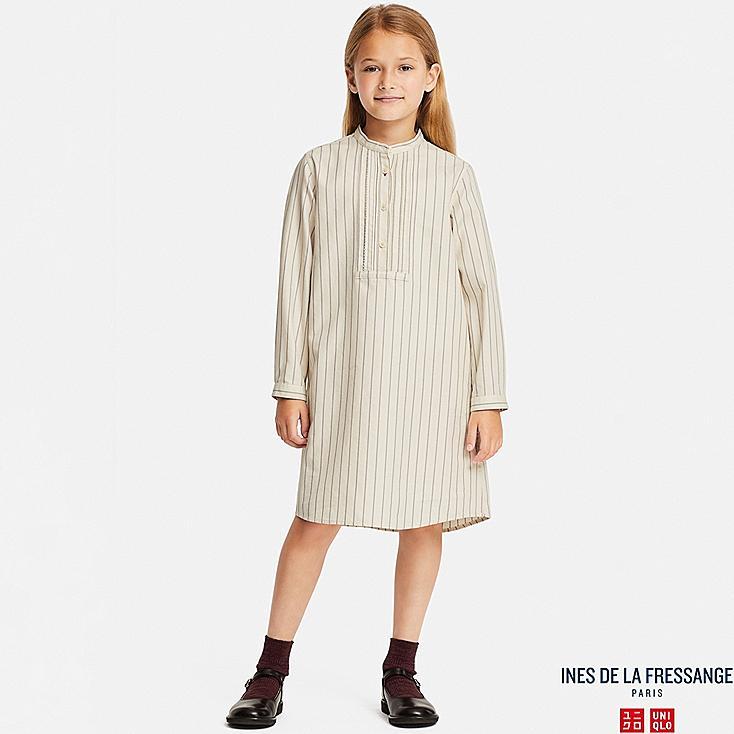 Mädchen Ines Hemdkleid aus Baumwoll-Twill (gestreift)