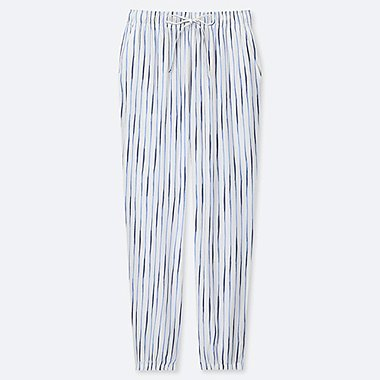 WOMEN DRAPE STRIPE JOGGER PANTS, OFF WHITE, medium