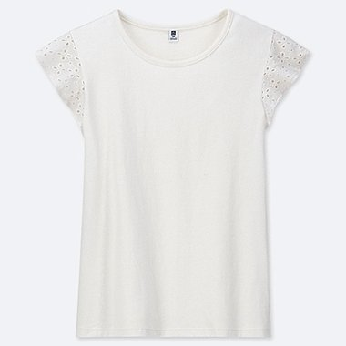 GIRLS LACE FRILL T-SHIRT