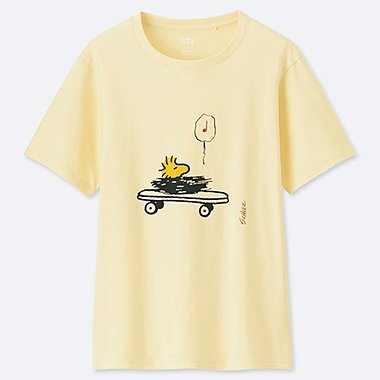 WOMEN PEANUTS SHORT-SLEEVE GRAPHIC T-SHIRT, OFF WHITE, medium