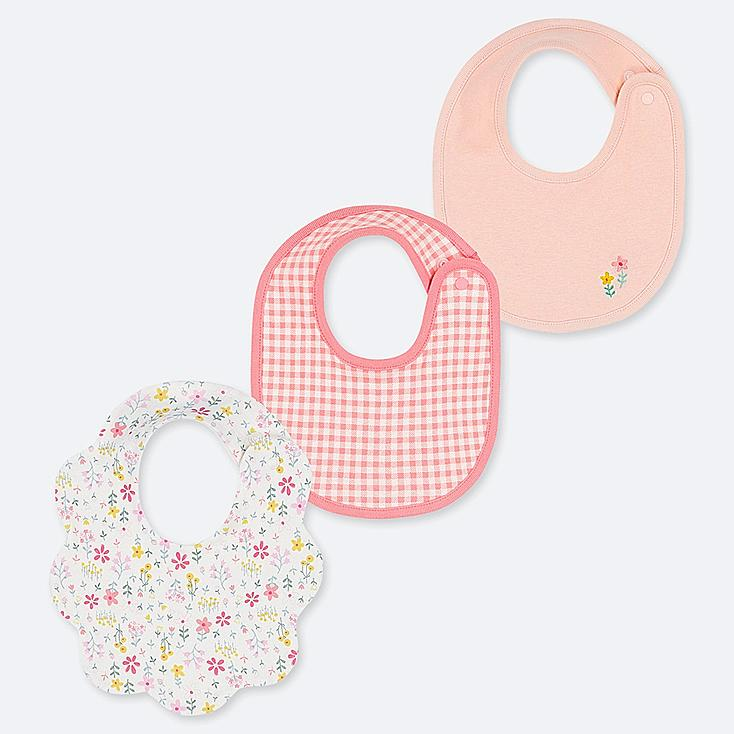BABY BIB (SET OF 3), OFF WHITE, large