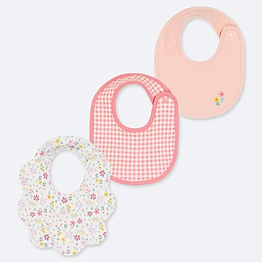 BABY BIB (SET OF 3), OFF WHITE, medium