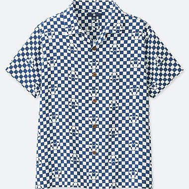 BOYS MICKEY BLUE SHORT-SLEEVE SHIRT (ONLINE EXCLUSIVE), OFF WHITE, medium
