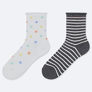GIRLS REGULAR SOCKS (SET OF 2), OFF WHITE, medium