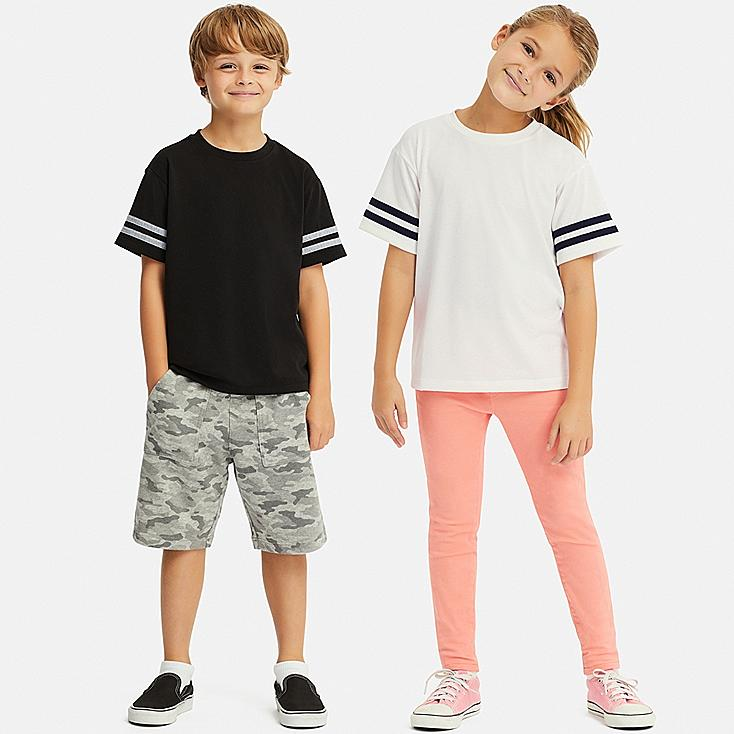 KIDS DRY-EX CREW NECK SHORT-SLEEVE T-SHIRT, OFF WHITE, large