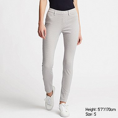 DAMEN SMARTE ULTRA STRETCH LEGGINGS MIT NADELSTREIFEN