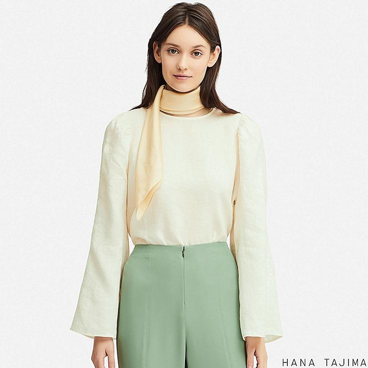 women premium linen long-sleeve blouse