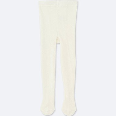 TODDLER KNITTED TIGHTS, OFF WHITE, medium