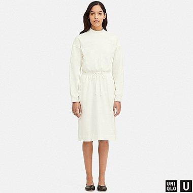 WOMEN UNIQLO U DRAWSTRING LONG SLEEVED DRESS