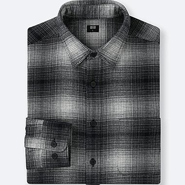 MEN Flannel Checked Long Sleeved Shirt