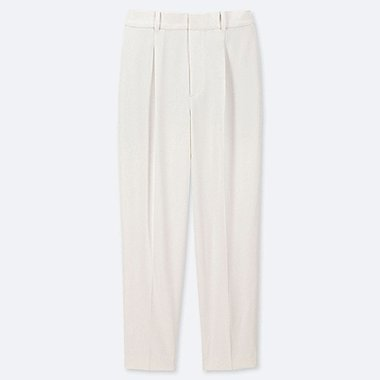 WOMEN DRAPE TAPERED ANKLE LENGTH TROUSERS