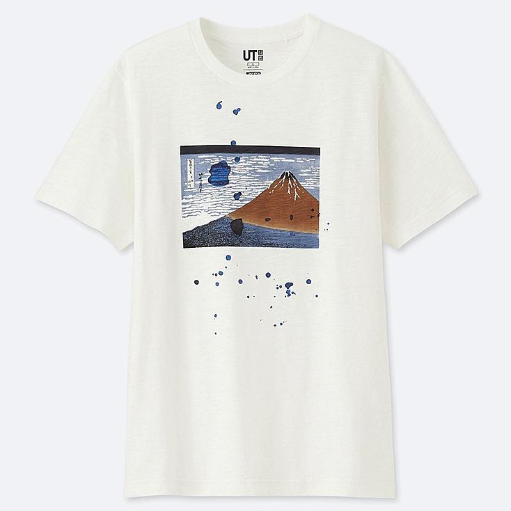 HOKUSAI BLUE SHORT-SLEEVE GRAPHIC T-SHIRT, OFF WHITE, large