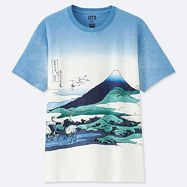 HOKUSAI BLUE SHORT-SLEEVE GRAPHIC T-SHIRT, OFF WHITE, medium
