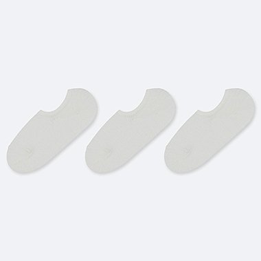 WOMEN SLUB FOOTSIES (3 PAIRS), OFF WHITE, medium
