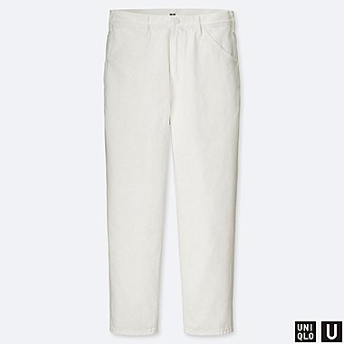 MEN U WIDE-FIT TAPERED JEANS, OFF WHITE, medium