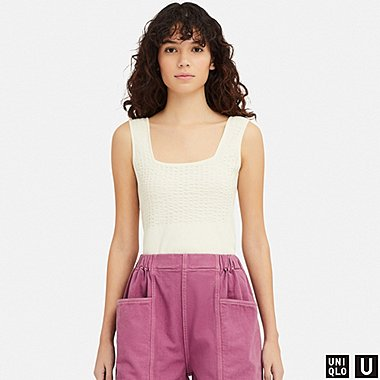 WOMEN UNIQLO U COTTON VEST TOP