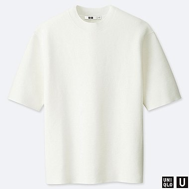 MEN UNIQLO U MILANO RIBBED CREW NECK SHORT SLEEVED JUMPER