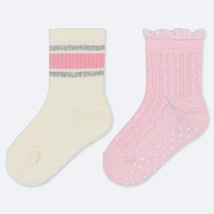 BABY SOCKS (2 PAIRS), OFF WHITE, large