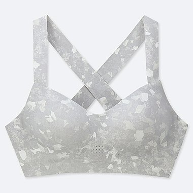 WOMEN ACTIVE WIRELESS BRA, OFF WHITE, medium