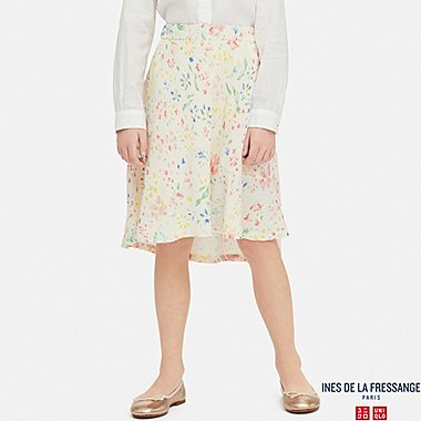 GIRLS GEORGETTE SKIRT (INES DE LA FRESSANGE), OFF WHITE, medium