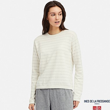 WOMEN INES COTTON CASHMERE BLEND STRIPED JUMPER