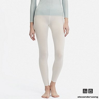 WOMEN AIRism LEGGINGS (ALEXANDER WANG), OFF WHITE, medium