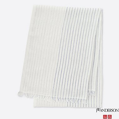 COTTON LINEN STOLE (JW Anderson), OFF WHITE, medium