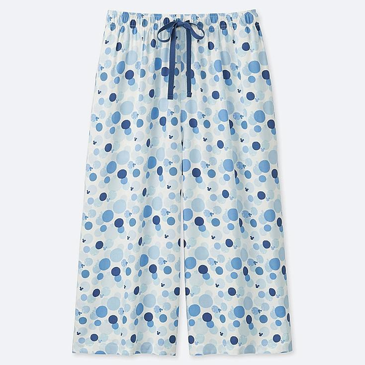 WOMEN MICKEY BLUE RELACO 3/4 SHORTS, OFF WHITE, large