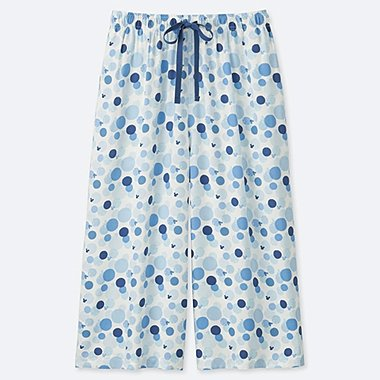 WOMEN MICKEY BLUE RELACO 3/4 SHORTS, OFF WHITE, medium