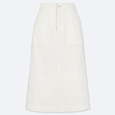 WOMEN BAKER SKIRT, OFF WHITE, medium