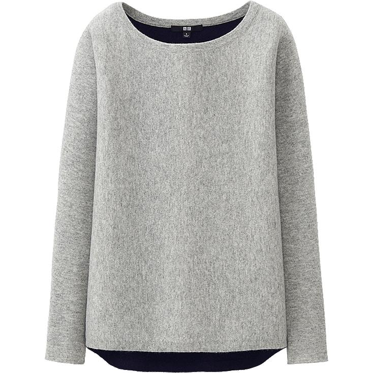 W's cashmere sweater, LIGHT GRAY, large