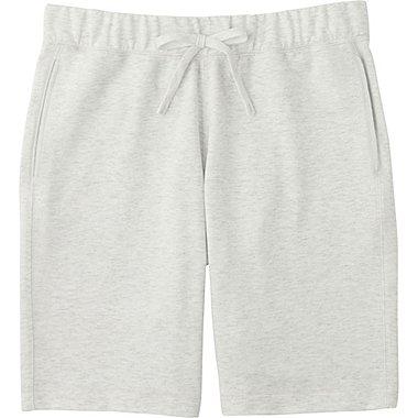 Mens Elastic Waist Shorts, LIGHT GRAY, medium