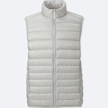 MEN ULTRA LIGHT DOWN VEST, LIGHT GRAY, medium