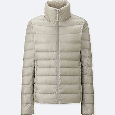 WOMEN ULTRA LIGHT DOWN JACKET, LIGHT GRAY, medium