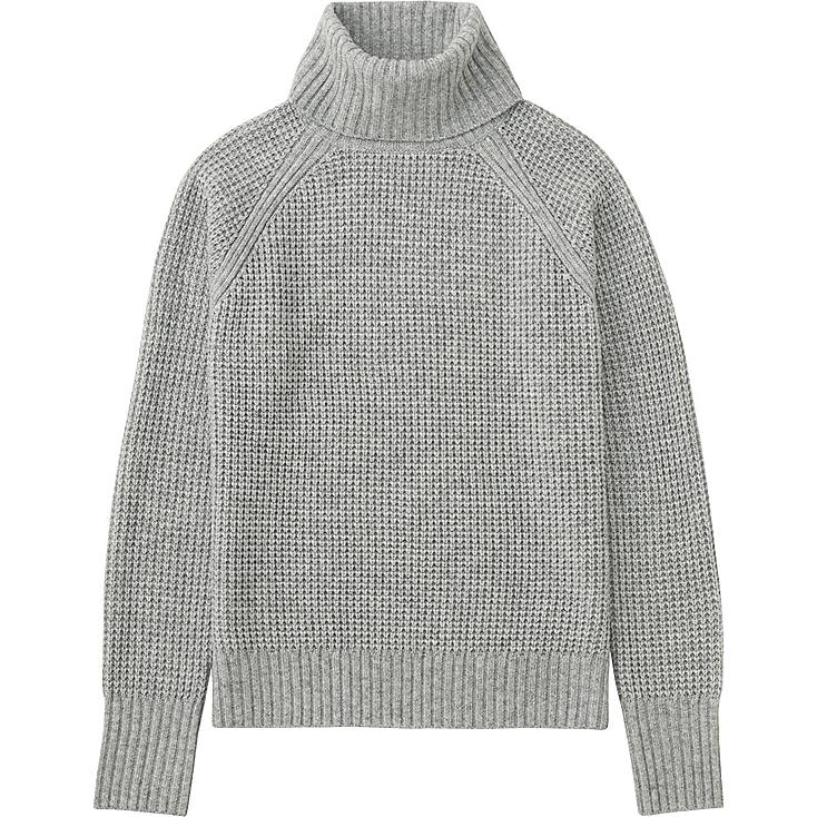 WOMEN CASHMERE BLEND TURTLENECK SWEATER | UNIQLO US