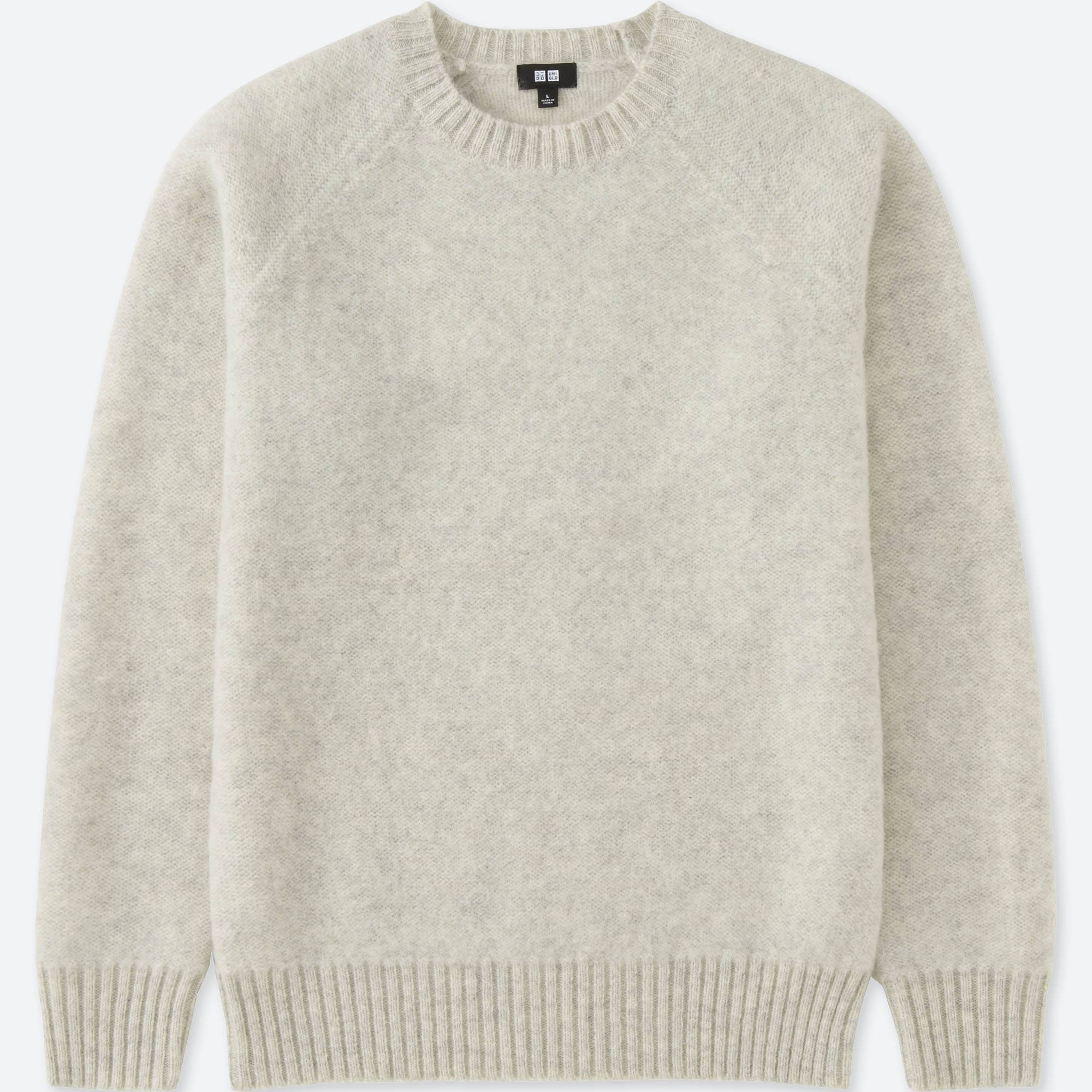MEN BOILED WOOL CREWNECK SWEATER | UNIQLO US