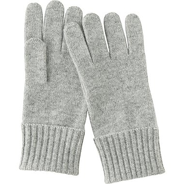 WOMEN CASHMERE GLOVES, LIGHT GRAY, medium